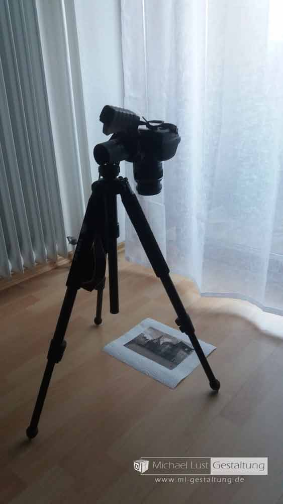 Kamera-auf-Stativ