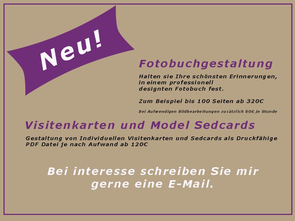 Neu Fotobuch Gestaltung und Visitenkarten Design.